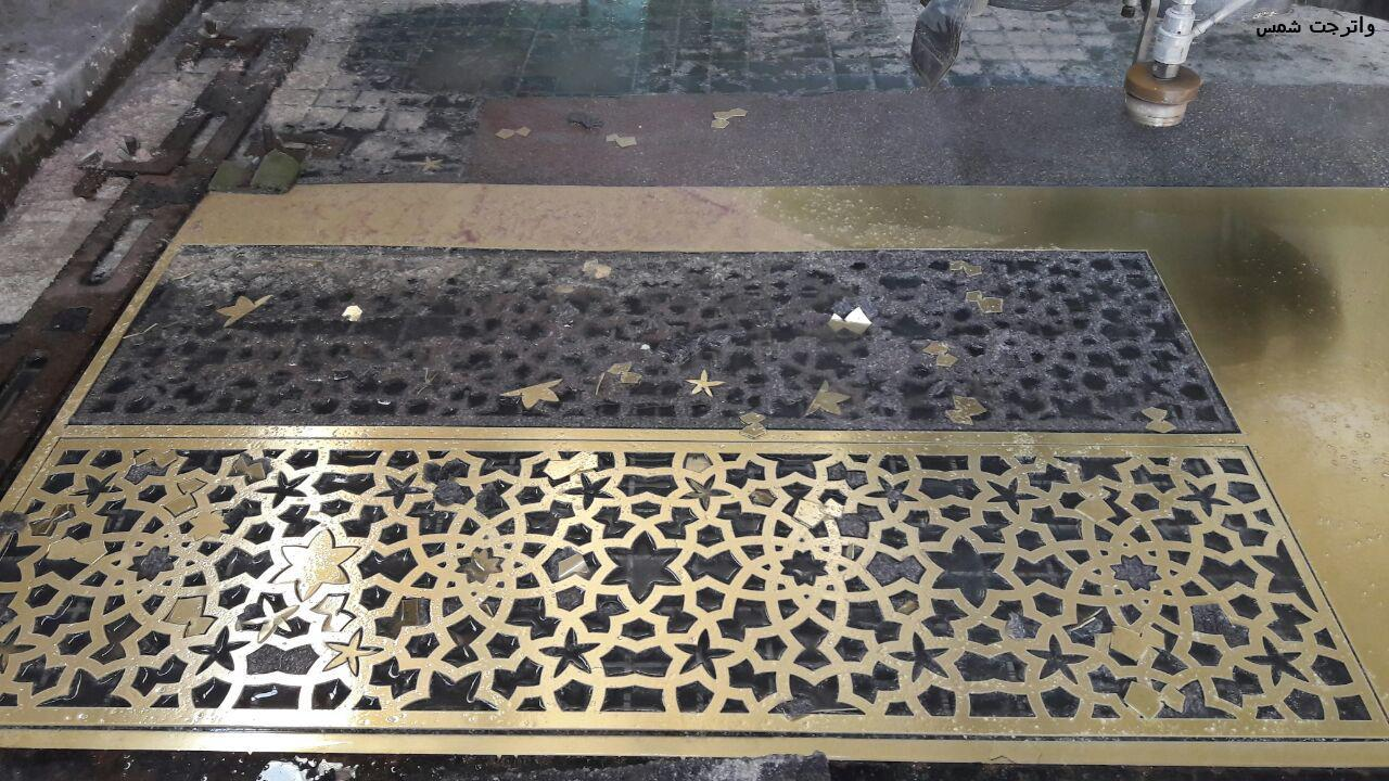 persian pattern - گره چینی و گره سازی با فلزات - برش مس و برنج با لیزر - برشمس و برنج با واترجت
