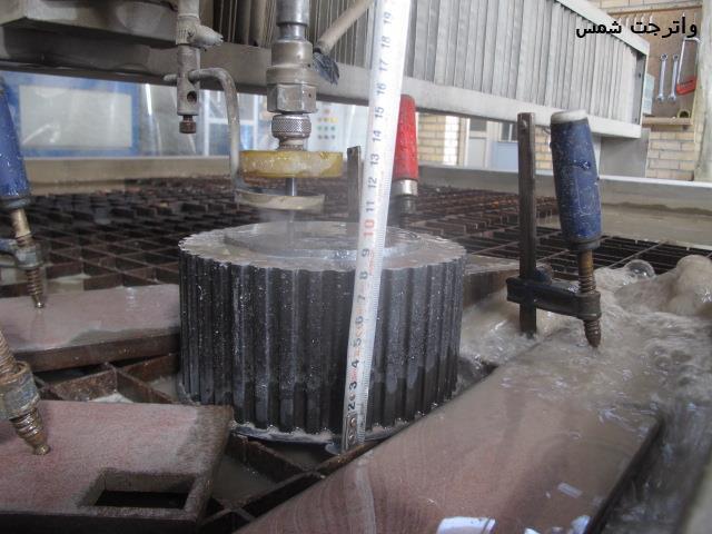 برش فولاد آلياژي با واترجت